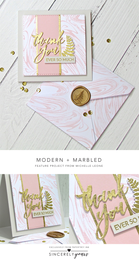 Modern + Marbled by Michelle Leone for Papertrey Ink