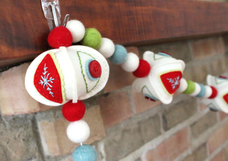 Stitched Ornament Garland 3