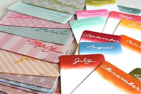 Year round mini cards