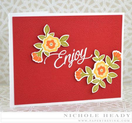Quilted Enjoy Card