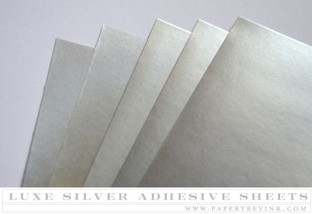Luxe Silver Adhesive Sheets