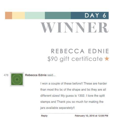 Day 6 Rebecca