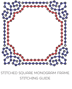 Monogram Frame Square