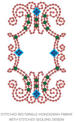 Monogram Frame w Sequins