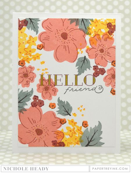 Hello Friend Floral Card