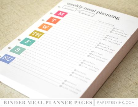 Binder Meal Planner