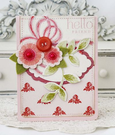 Embroidered Blooms - Melissa