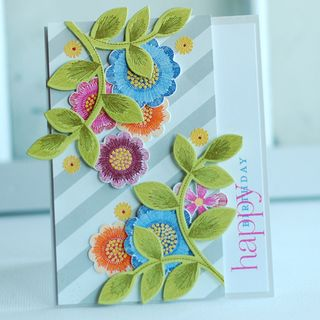 Embroidered Blooms - Betsy