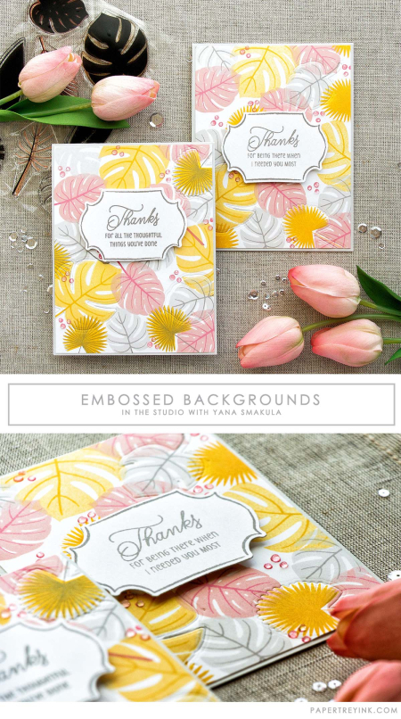 Embossed Backgrounds with Yana