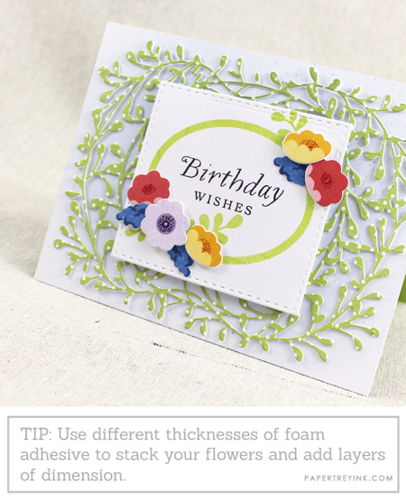 Floral Birthday Wishes Close Up