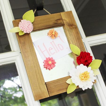 Felt Flower Magnet Board