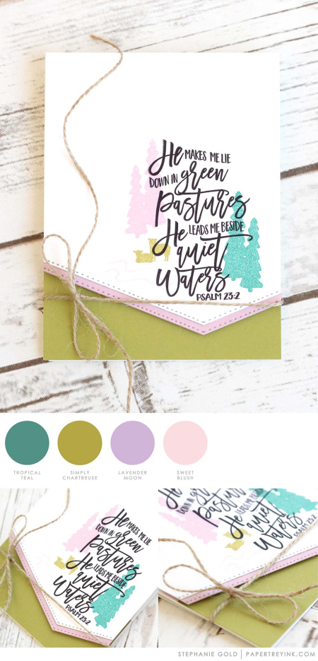 Green Pastures by Stephanie Gold for Papertrey Ink