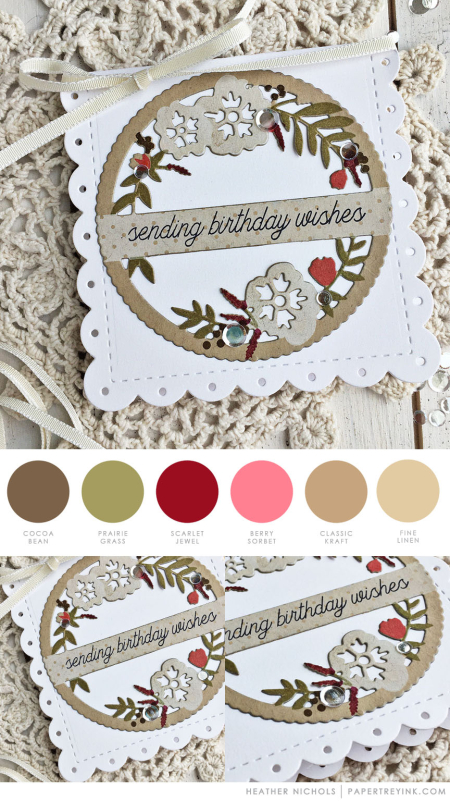 Scalloped Wishes by Heather Nichols for Papertrey Ink