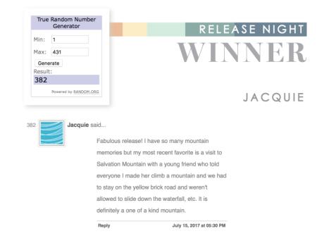 Release-night-winner