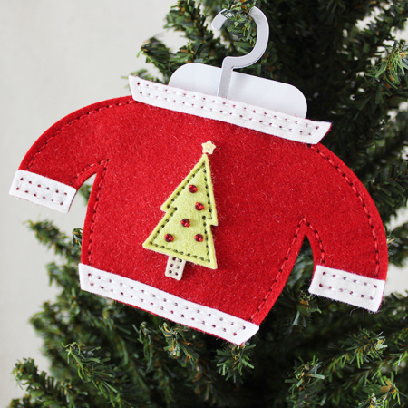 Christmas Tree Sweater Gift Card Holder