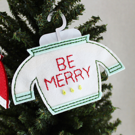 Be Merry Sweater Gift Card Holder